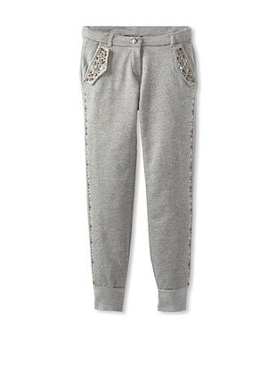 56% OFF Monnalisa Girl's Studded Sweatpants (Medium Gray)