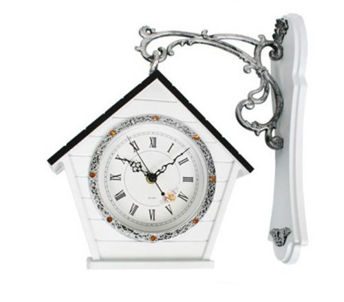Double-sided Wall Clock Silent Noiseless Home Interior Antique