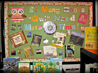 """Owl Bulletin Board:  So Many Books, """"Owl"""" need More Time"""