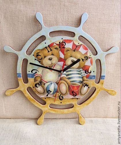 "Часы для дома ручной работы. Ярмарка Мастеров - ручная работа Часы настенные ""Друзья"". Handmade."