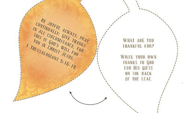 A {Christian} Family Thanksgiving Activity: The Thanks Giving Tree {Free Printable}