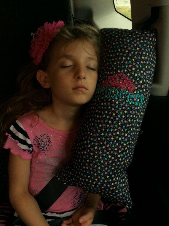 Almohadilla de cinturón de seguridad de la princesa flor