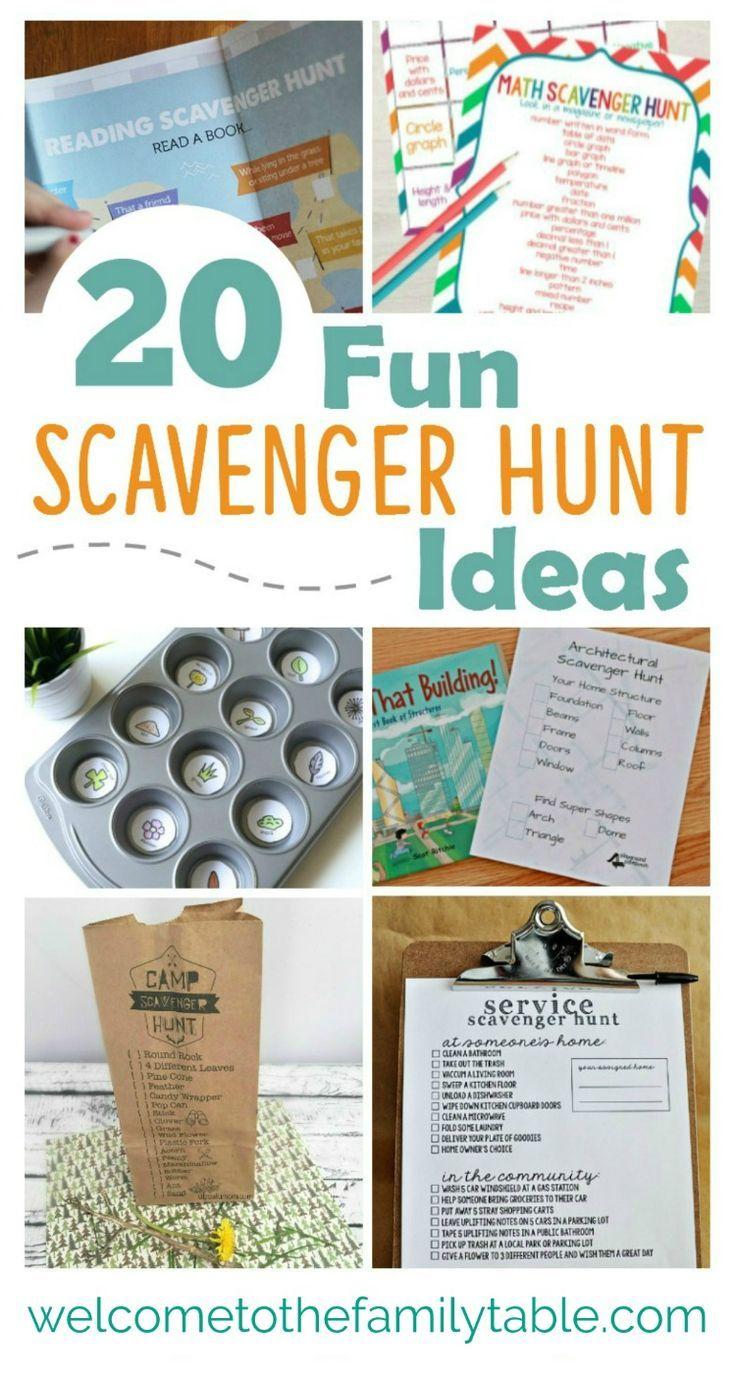 20 Fun Scavenger Hunt Ideas Scavenger hunt birthday