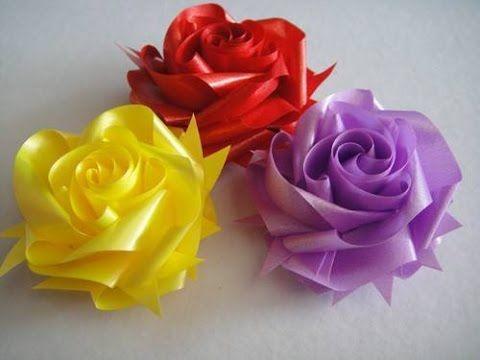 สอนพับเหรียญโปรยทานดอกกุหลาบ - YouTube