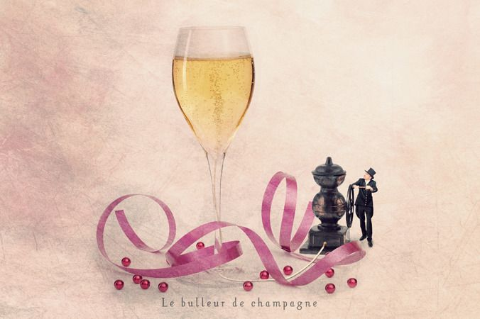 Le bulleur de champagne - 24x30 cm - Photographie d'art : Décorations murales par balies-photos-d-art