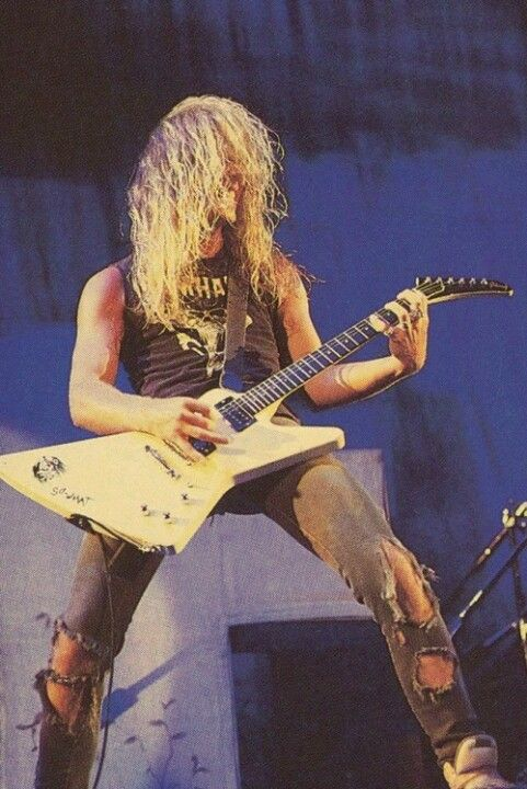 James Hetfield. His lyrics help me through so much. If my life was a movie Metallica would be the soundtrack.