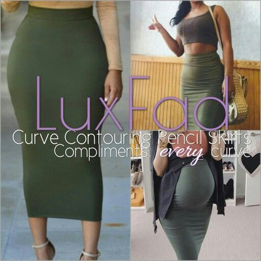 Curve contouring pencil skirts, pregnancy friendly!