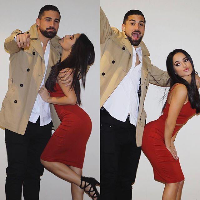 Becky G con su novio el futbolista Alto + chaparra =pareja perfecta <3