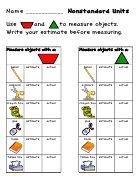 Nonstandard Measurement: Schools Math, Kindergarten Math, Math Measuring, Teaching Ideas, Math Ideas, Math Activities, Classroom Ideas, Pattern Blocks, Patterns Blocks