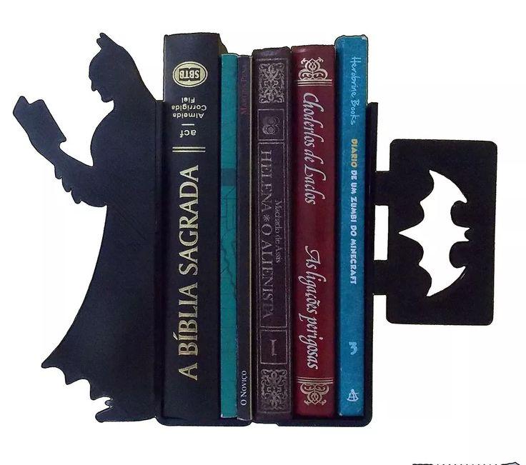 Suporte Aparador De Livros Bibliocanto Apoio Cd/dvd - Batman - R$ 34,90 em Mercado Livre