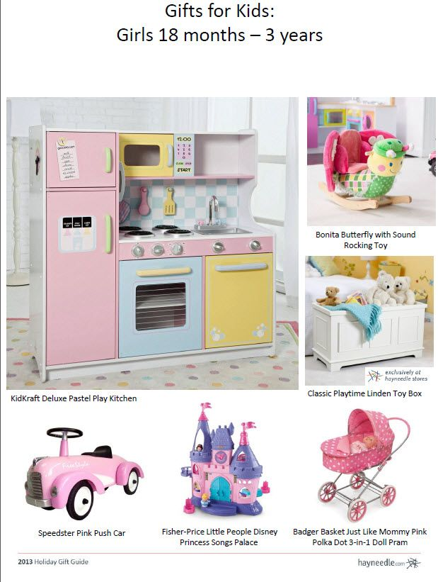 Gift Ideas For Kids: Girls 18 Months   3 Years.