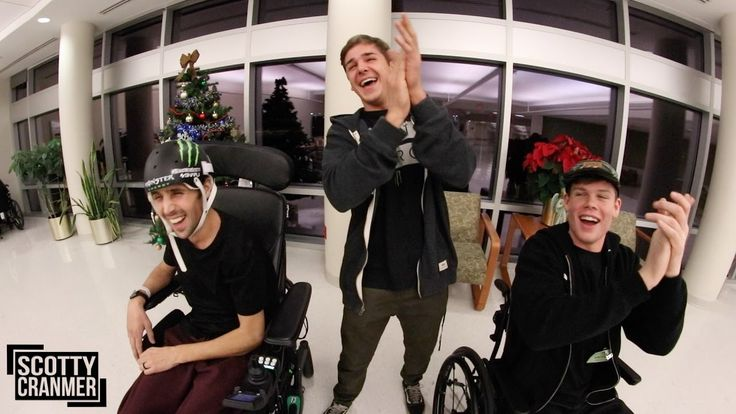 Pro BMX Rider and Youtuber that had a crash leaving him paralysed has a wheelchair race around Rehab Center.