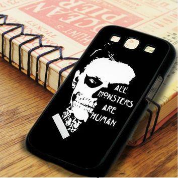 American Horror Story Evan Peters Skull Samsung Galaxy S3 Case