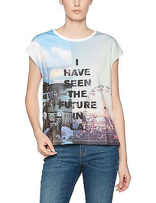 X-Large, white placed print 01D0, Q/S designed by Women's 41704324433