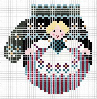 Schema punto croce Guanto-di-lana