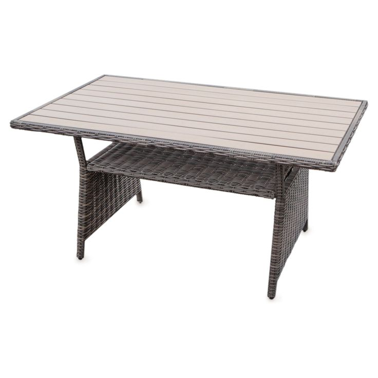 AE Outdoor Cherry Hill Wicker Patio DiningTable - MOD569022-CAST ASH