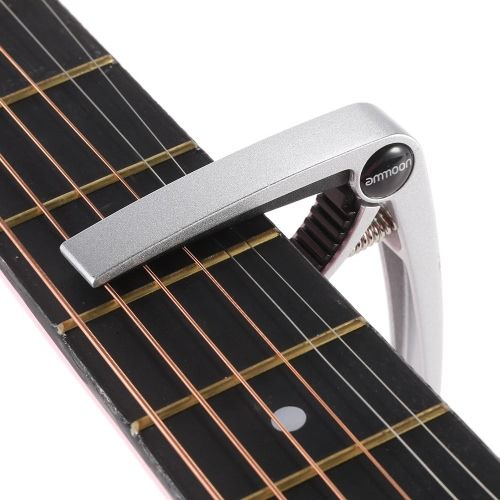 ammoon Aluminum Alloy Quick Change Clamp Key Tuner Trigger Capo Universal for Acoustic Classical Electric Guitar Ukulele Bass