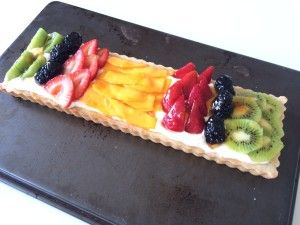 Quick and easy - but absolutely gorgeous Fruit Tart