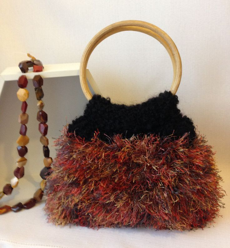 Autumn Knitted Handbag by ByDebz on Etsy