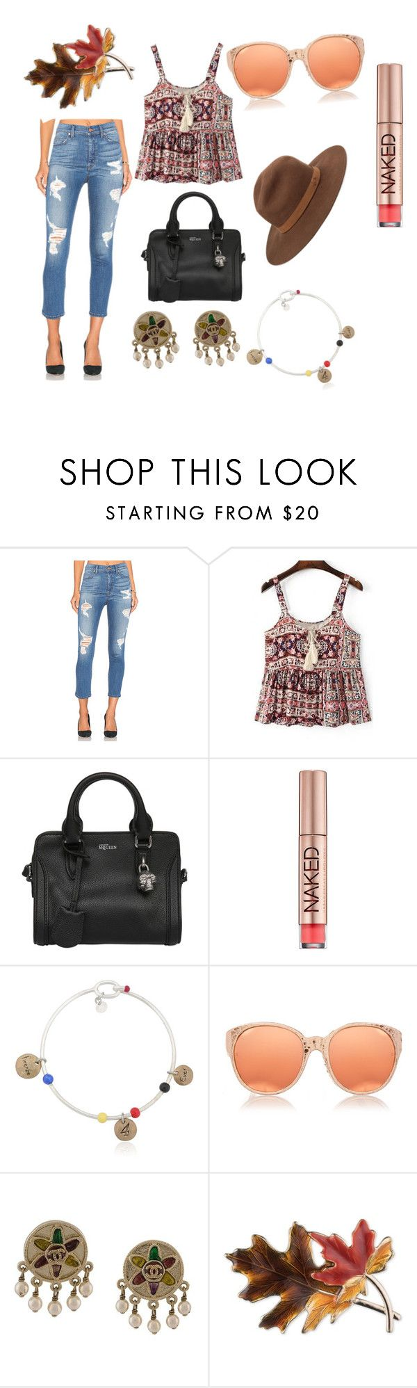 """Untitled #80"" by wedyan-al-zobady ❤ liked on Polyvore featuring Level 99, WithChic, Alexander McQueen, Urban Decay, Stefania Di Pardo, Linda Farrow, Chanel, Anne Klein and rag & bone"