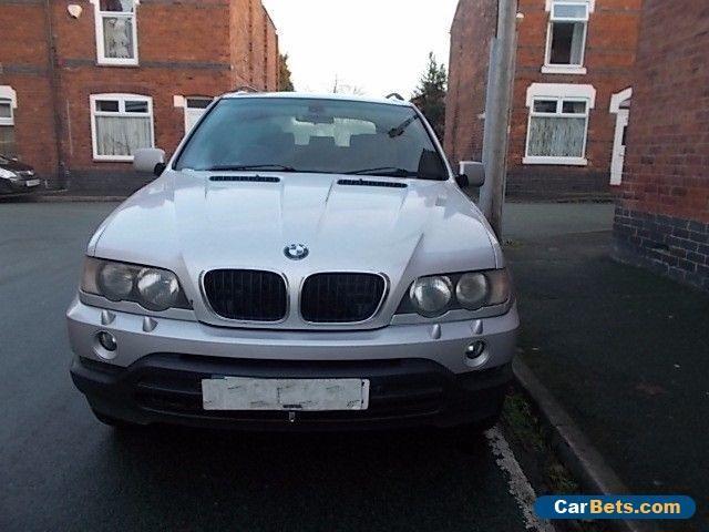 BMW X5 D SPORT 2003 SILVER 3.0 DIESEL AUTOMATIC - 4X4 DAMAGED REPAIRABLE SALVAGE #bmw #x5dsportauto #forsale #unitedkingdom