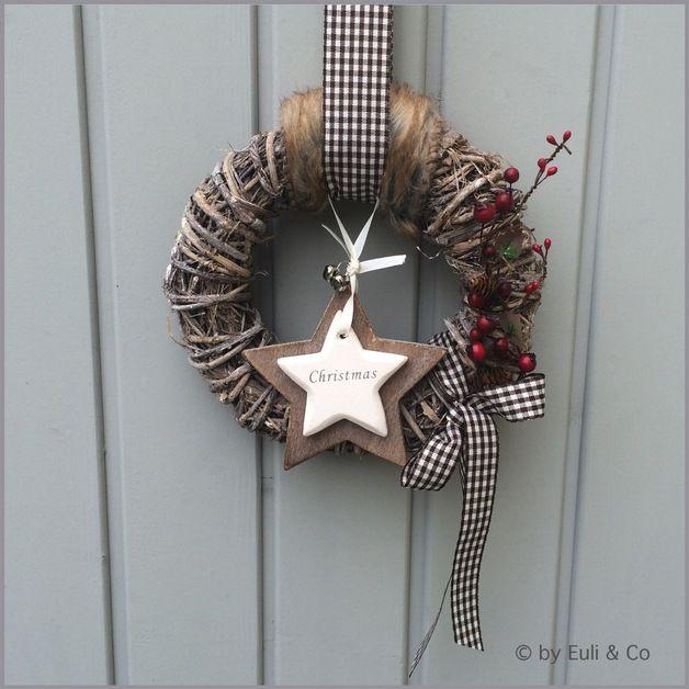 Weihnachtsdeko - Türkranz ~ Natural ~ Christmas - ein Designerstück von EuliundCo bei DaWanda