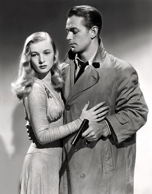 "Veronica Lake and Alan Ladd in the 1942 Film Noir ""This Gun For Hire""- Publicity Still."