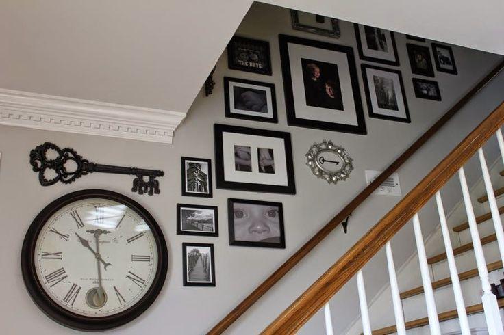 wonderful Stairway Gallery Wall from NotingGrace.com