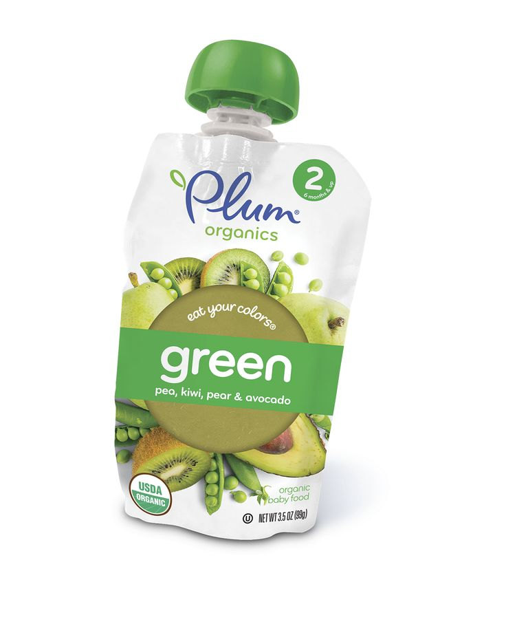 Plum Organics Stage 2 Eat Your Colors Green - Pea, Kiwi, Pear & Avocado #babyfood #organic