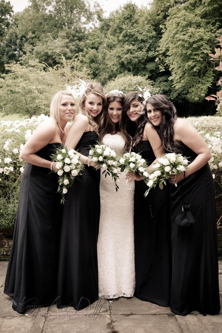 www.kerryannduffy.com  Kerry Ann Duffy Photography: Michelle & Ross' Wedding at Turkey Mill, Maidstone, Kent.  Bridesmaids in black