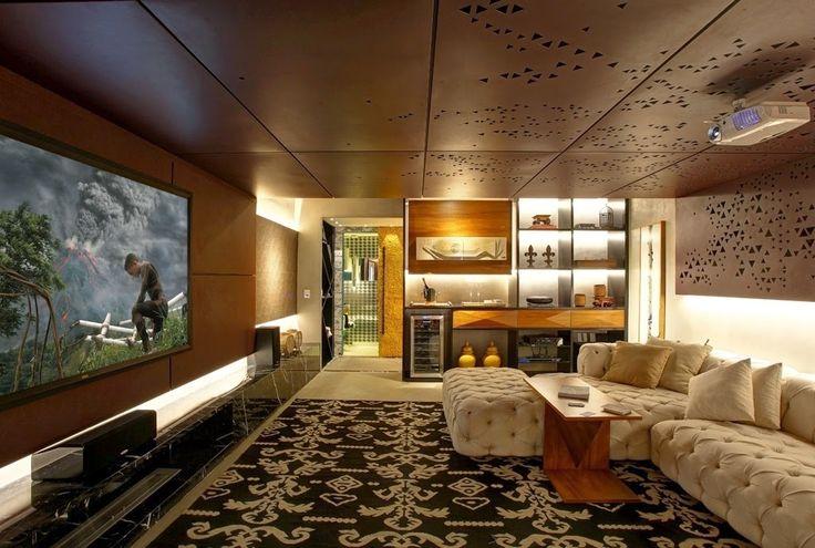 Home Theater - veja 30 salas decoradas, mais dicas e tendências! - DecorSalteado
