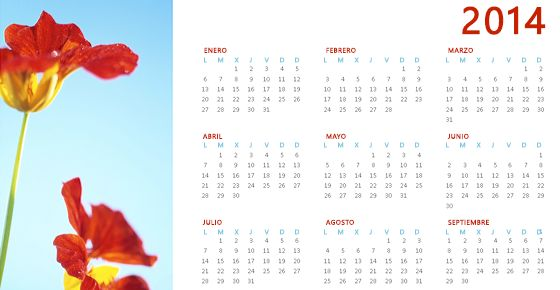 Plantillas web de office   Calendario anual de fotos 2014: Descargar esta plantilla