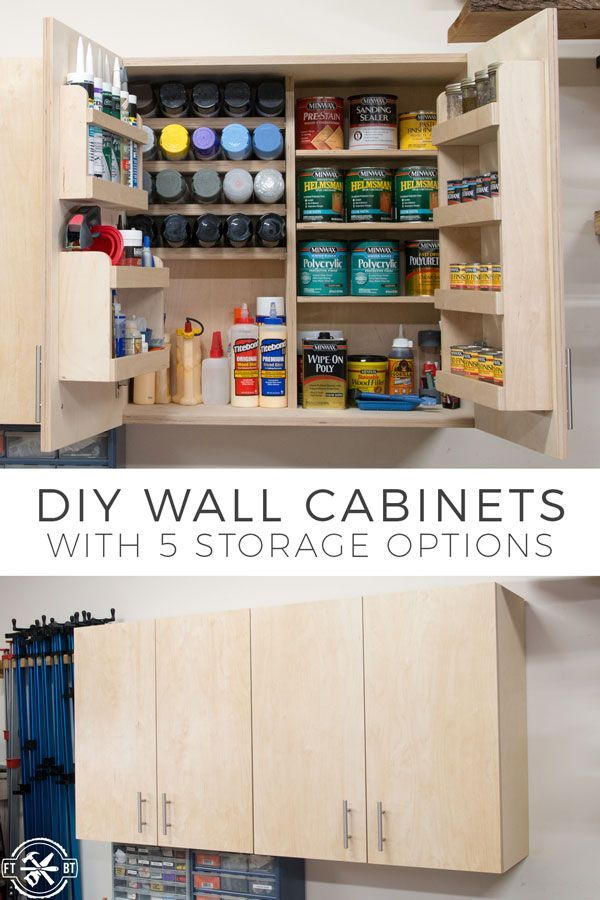 diy wall cabinets with 5 storage options tools and techniques rh pinterest com how to build simple garage wall cabinets