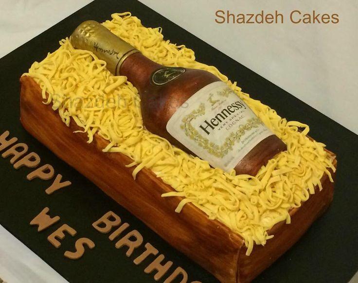 Hennessy Bottle Cake Fondant Bottle Cake Grooms Cake