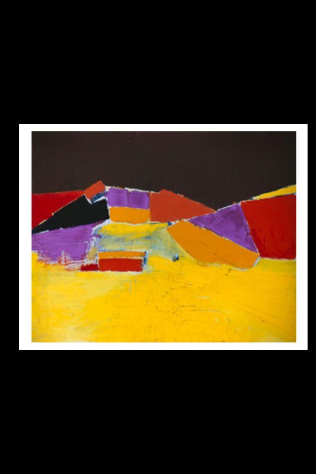 """Nicolas De Staël - """"Agrigente"""", 1954 - Huile sur toile - 78 x 92 cm (*)"""