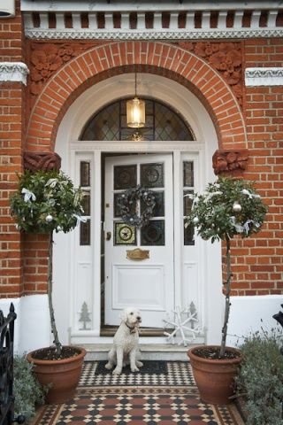 Frame your front door with beautiful looking bay trees which you can dress up for any occasion. For beautiful maintenance free artificial bay trees have a look on our website for more ideas and inspiration at great prices www.evergreendirect.co.uk