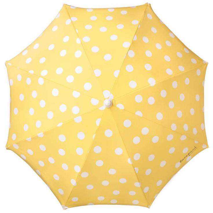 who cares if it rains when you've got a yellow polka dot umbrella?