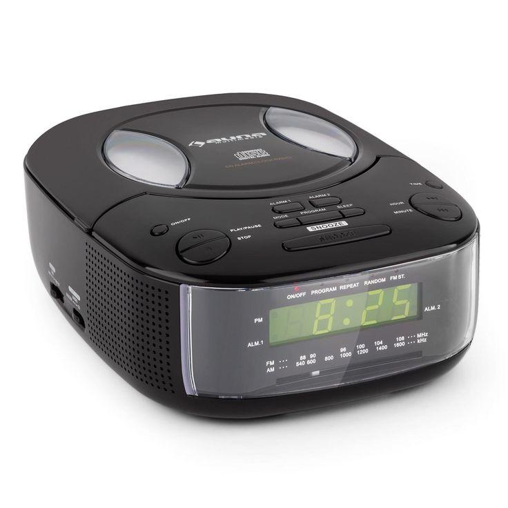Auna Dreamee BK Radio Alarm Clock with CD-Player FM: Amazon.co.uk: Electronics