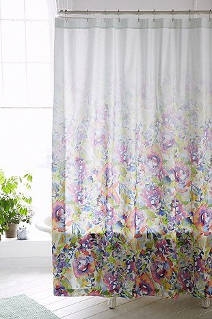 The Art Gallery Shop Plum u Bow Esha Floral Shower Curtain at Urban Outfitters today