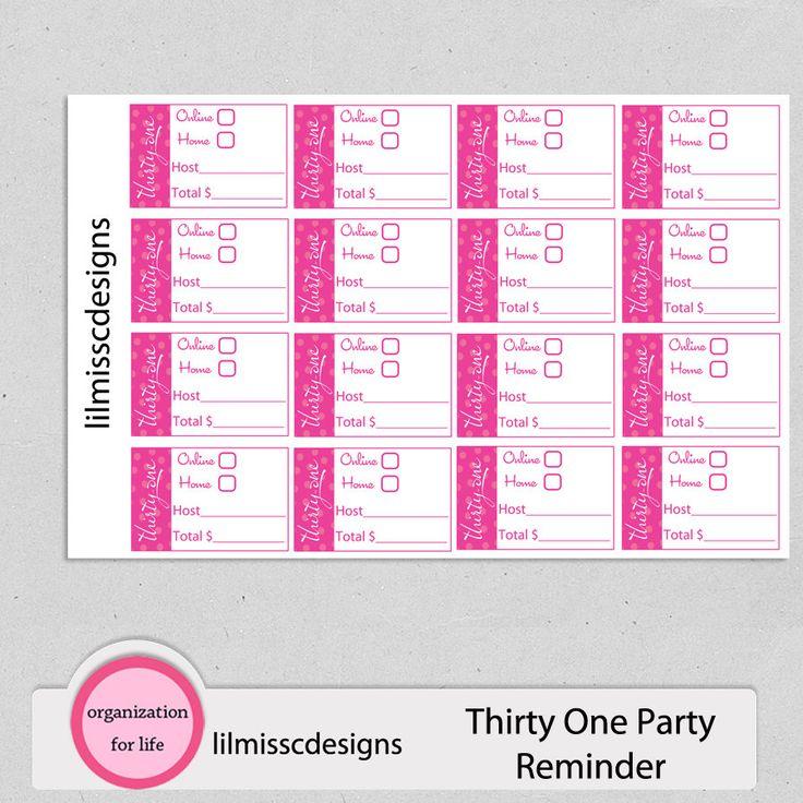 Treinta y uno 31 Consultor planificador por lilmisscdesigns en Etsy