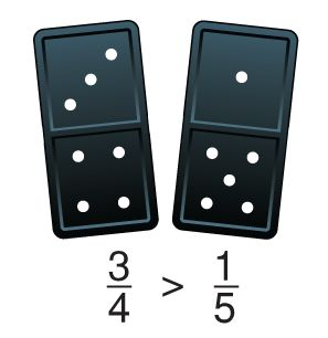 Using Dominos for Fraction Games