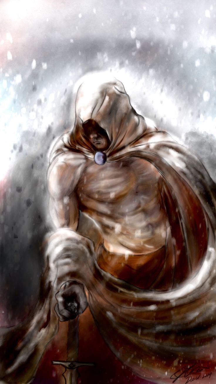 Drawn on procreate: Skyrim character