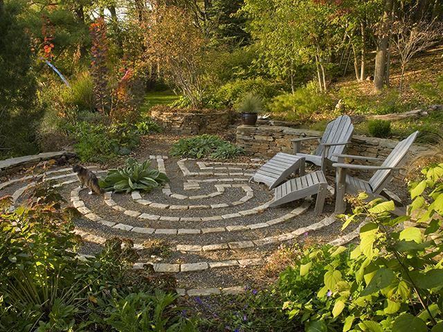 Meditative Garden Labyrinth Walking Labrynths Pinterest