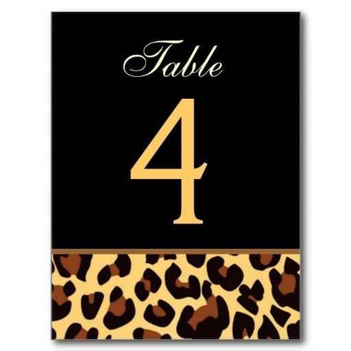 Gold and Black Leopard Wedding Table Number Card Postcards