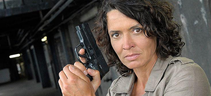 Ulrike Folkerts as Tatort commissioner Lena Odenthal.  © SWR / Frills Burberg