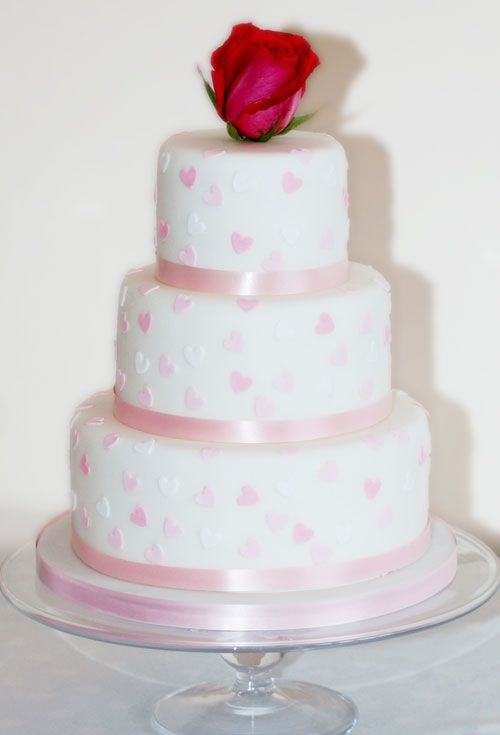 wedding cakes with hearts | hearts wedding cake pastel coloured hearts adorn this sweet wedding ...