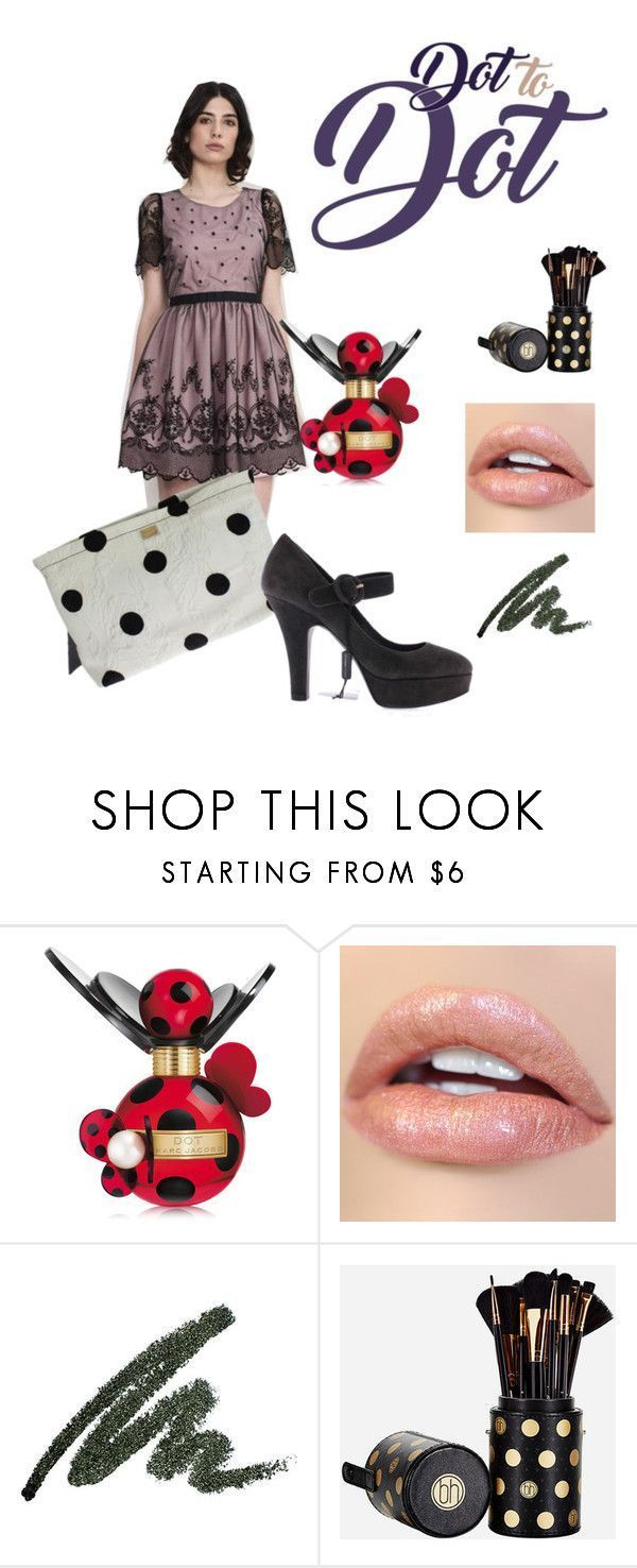Dot to Dot by polkadottedallthethings on Polyvore featuring BHCosmetics, Marc Jacobs and Dolce&Gabbana