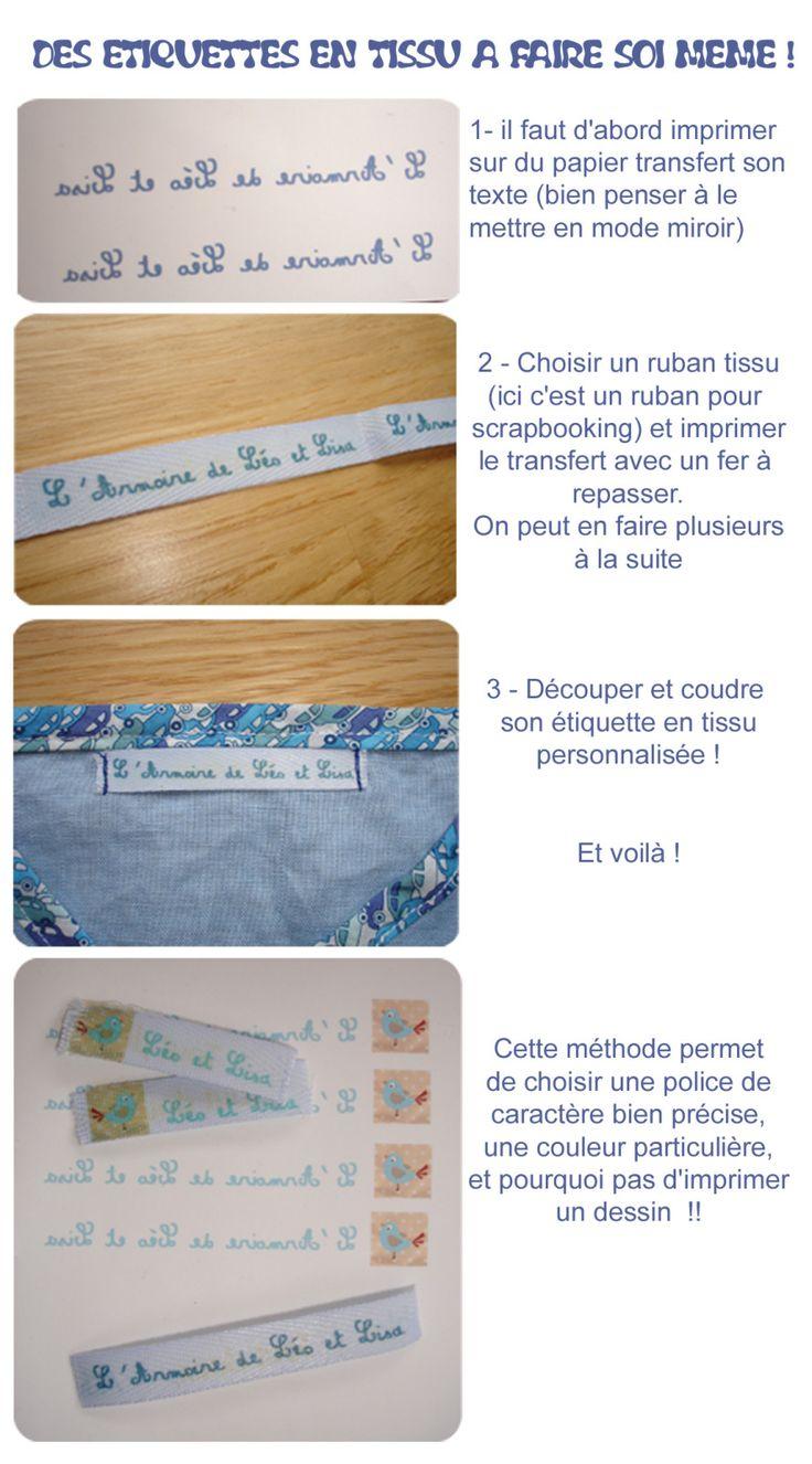 Toutes mes créations couture sur mon blog créatif ! Il y a quelques temps de cela je cherchais un fabricant d'étiquettes textile sur internet. J'ai choisi un fournisseur connu chez les bloggeuses et je lui ai commandé des étiquettes tissu personnalisées...