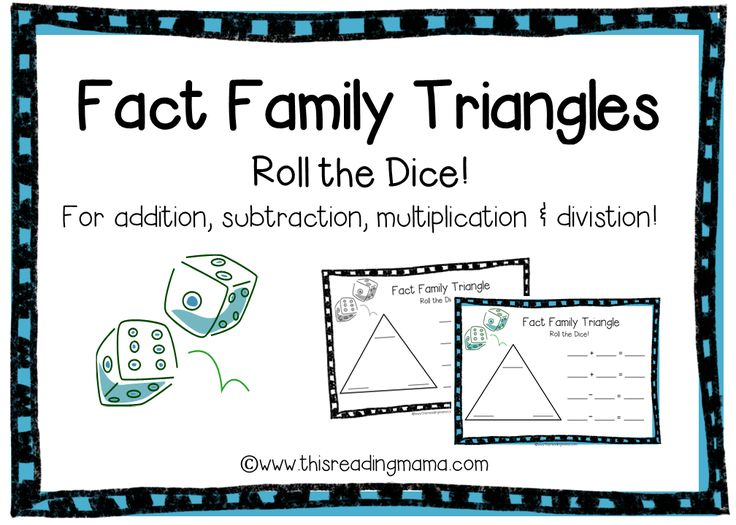Fact Family Triangles Free Download 7 Year Olds To