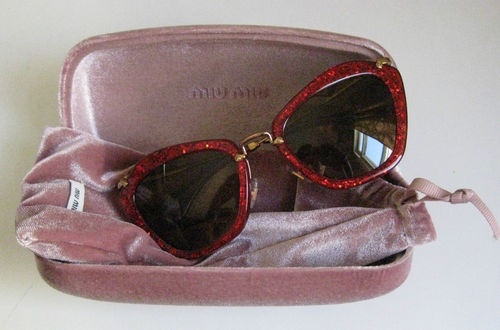 prada pink glitter sunglasses